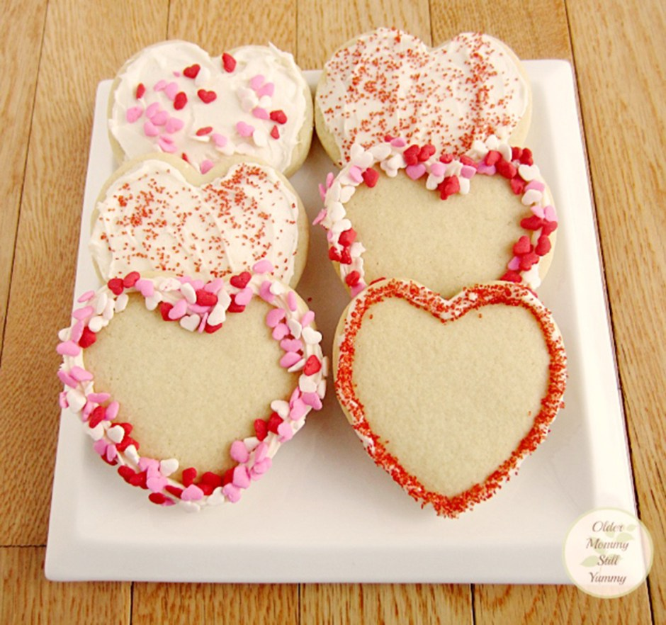 Valentines Day 01 Sugar Cookies with Cream Cheese Frosting