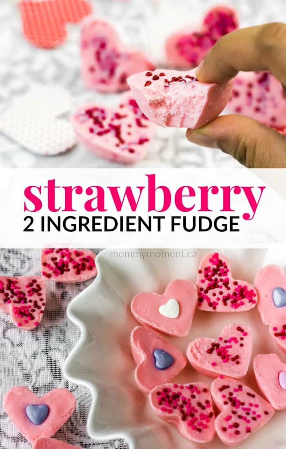 Valentines Day 06 Strawberry 2 Ingredient Fudge