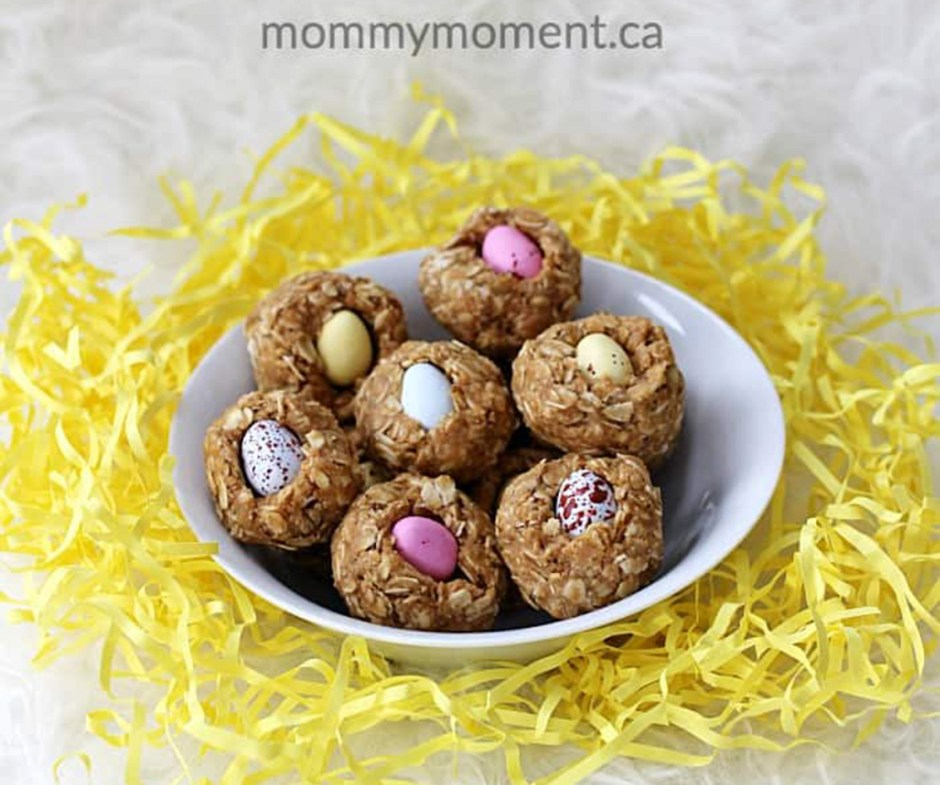 2019 Easter Treats 14 No Bake Granola Bar Mini Egg Nests