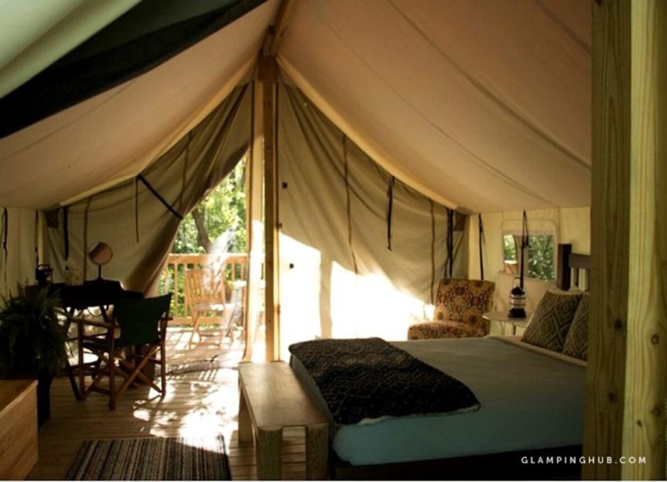 cozy Safari tents finger lakes