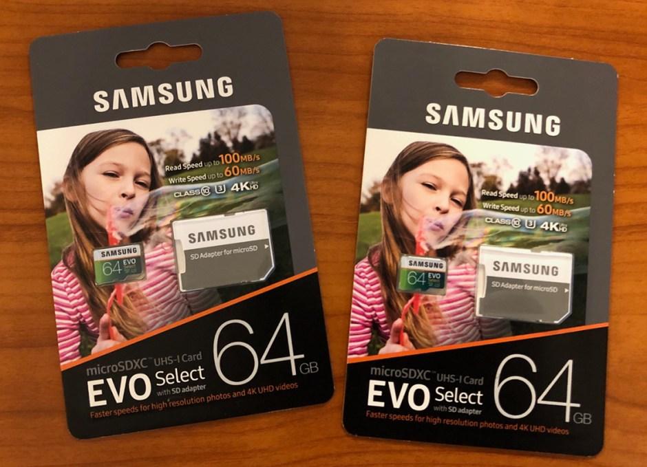 AKASO V50 Pro Samsung SD cards