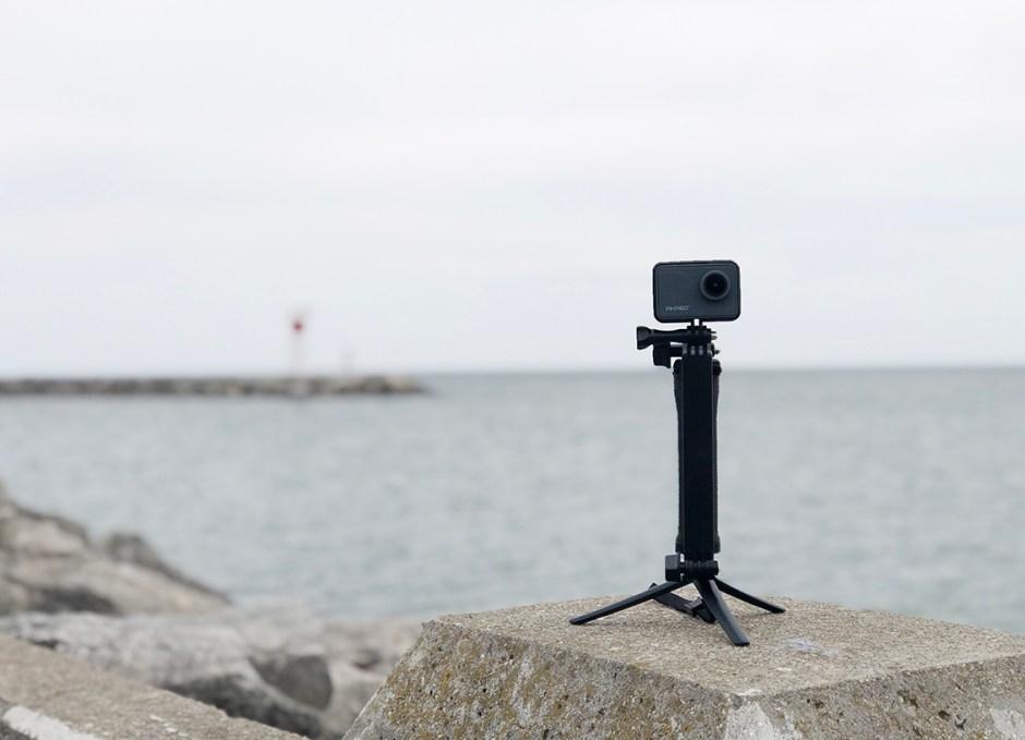 AKASO V50 Pro at Bronte pier action camera