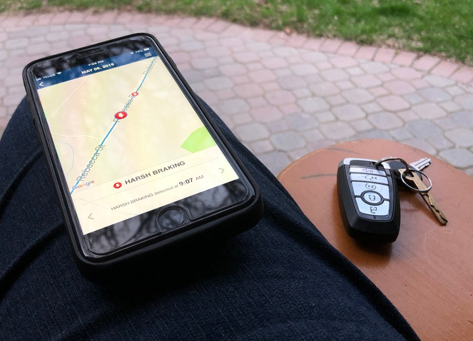 allstate drivewise app harsh braking
