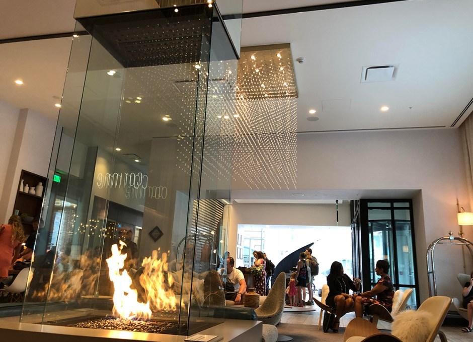 Le Méridien Downtown Denver lobby lounge area