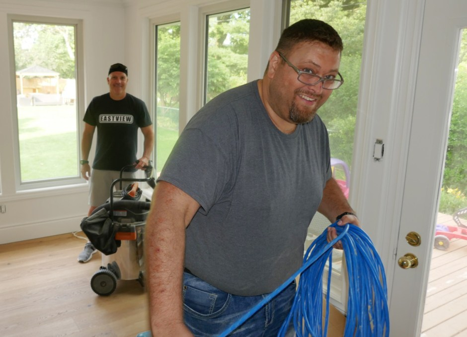 Eastview Homes Craig-wrapping-cable
