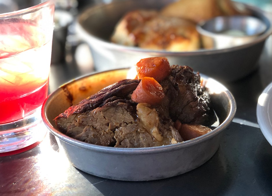Work And Class Brandy And Peppercorn Beef Pot Roast