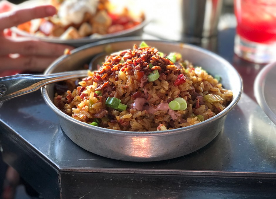Work And Class Dirty Rice With Sausage And Peppers
