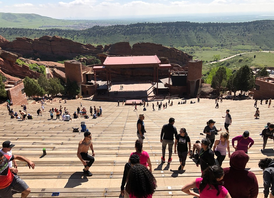red rocks stage from top