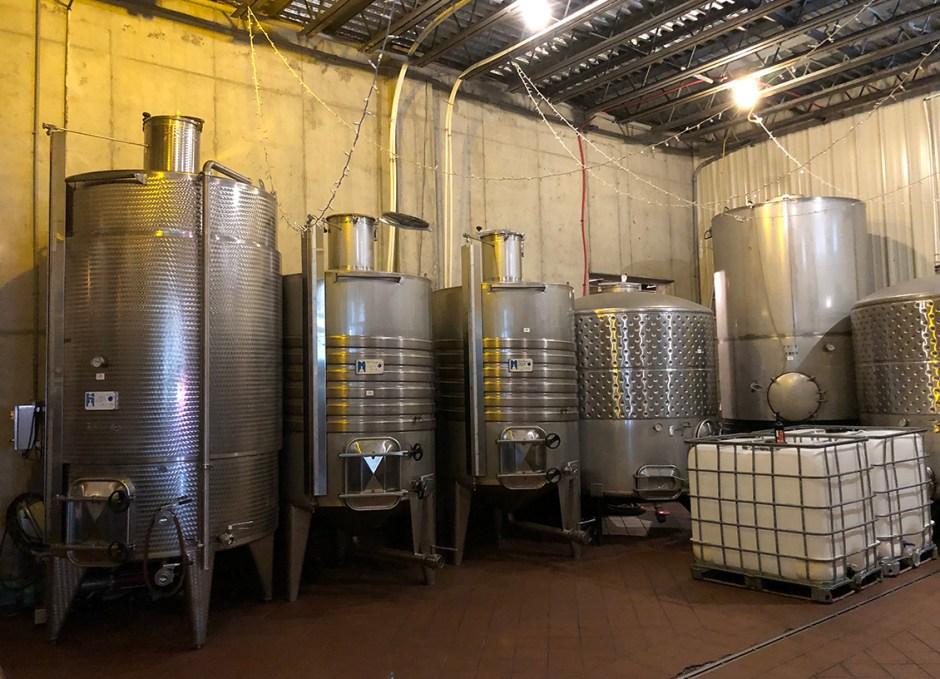 paradocx vineyard distilling room