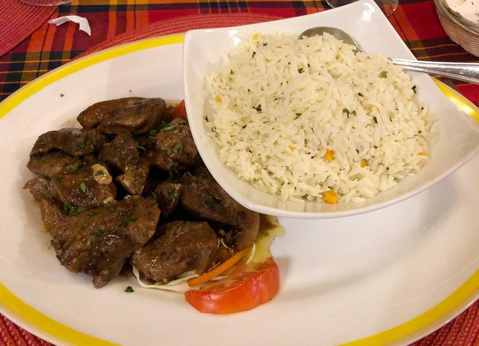 the great old house restaurant dominica tamarind jerk pork