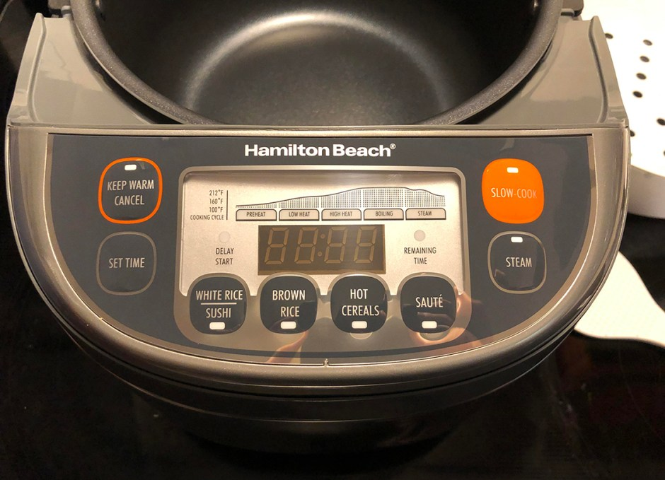 Hamilton Beach Multi-Function Rice Cooker digital display