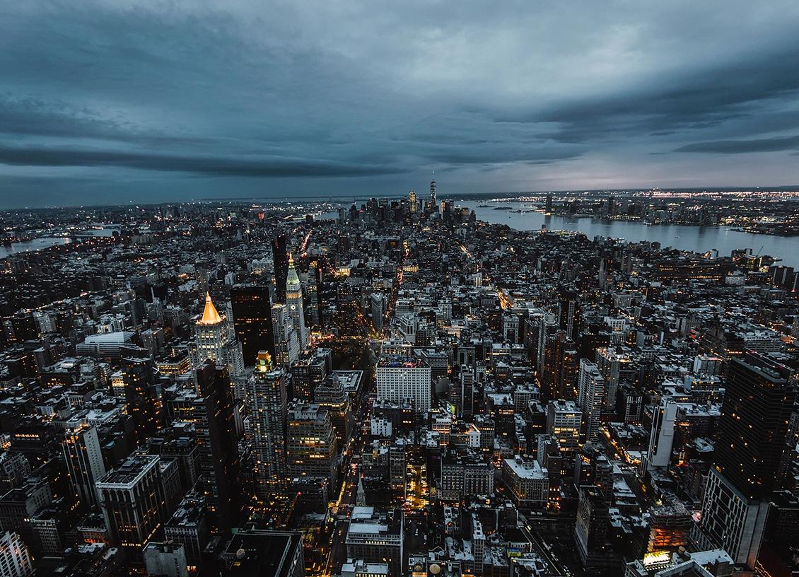 new york evening skylight