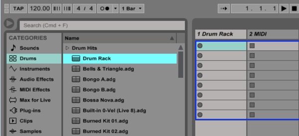Drum Rack in Ableton Live