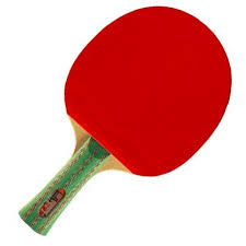 red ping pong paddle