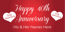 Anniversary Banner - Ruby 40th