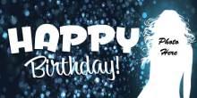 Birthday Banner - Blue Sparkle