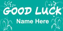 Good Luck Banner - Green