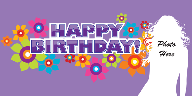 Birthday Banner - Purple