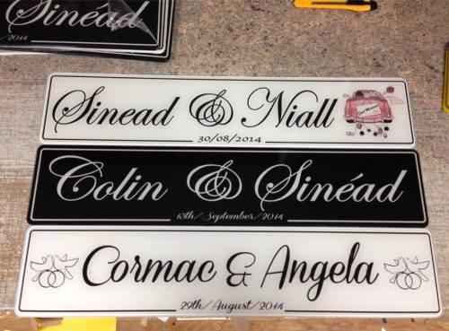 Just Married Black Wedding Number Plate
