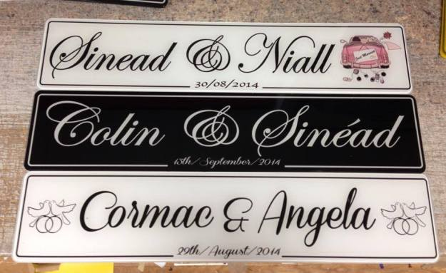 Couple Doves Number Plate