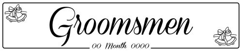 Groomsmen Bell - Wedding Number Plate