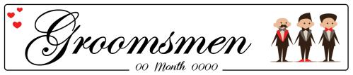 Groomsmen Love Couple - Wedding Number Plate