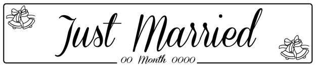 Just Married Bell - Wedding Number Plate
