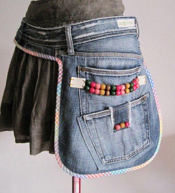 Denim Side Pouch or Pocket