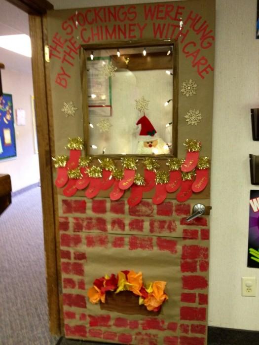 Christmas Door Decorations For Kindergarten Classroom