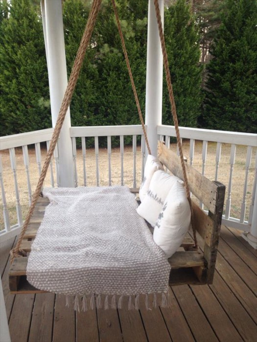 diy sofa from pallets leather sleeper ikea 110 pallet ideas for projects that are easy to make and sell swing bed