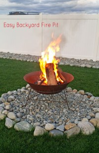 Easy Backyard Firepit - BigDIYIdeas.com