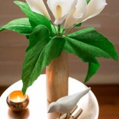 Kitchen Bookshelf Curtains Ideas Crepe Paper Calla Lily