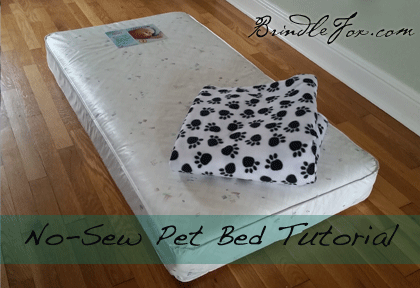 No Sew DIY Dog Bed