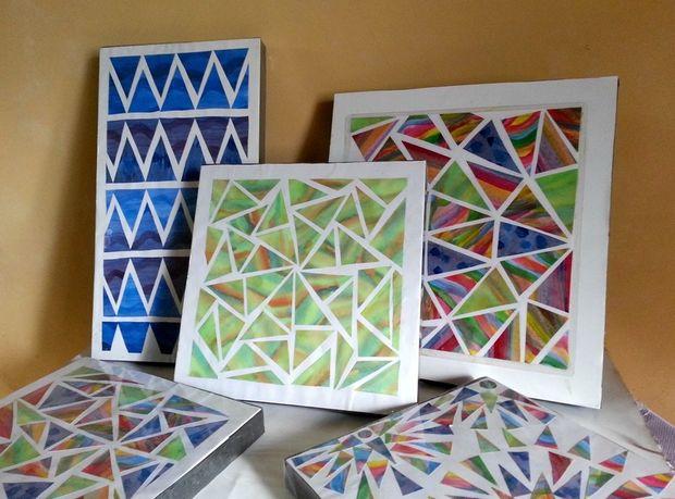 Chromatic Geometric Wall Art  BigDIYIdeascom