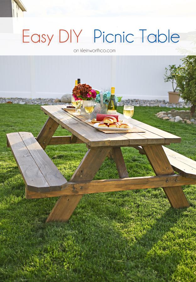 Easy DIY Picnic Table