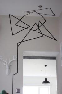 Washi Tape Wall Art - BigDIYIdeas.com