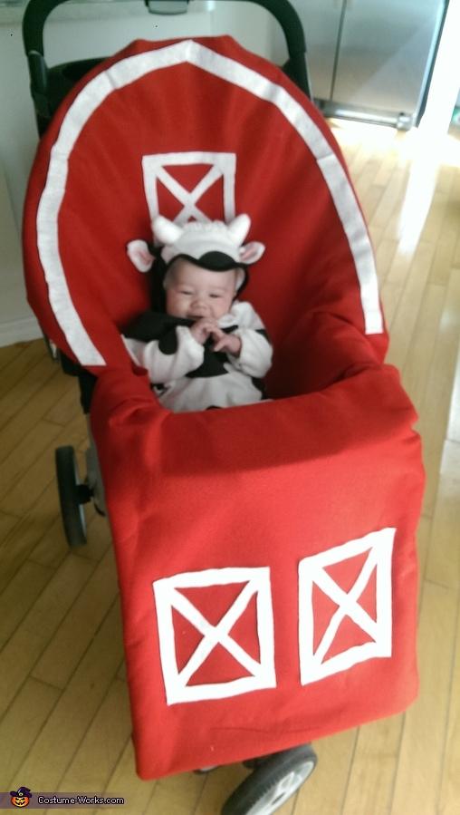 Baby Cow in Barn Baby Costume  BigDIYIdeascom