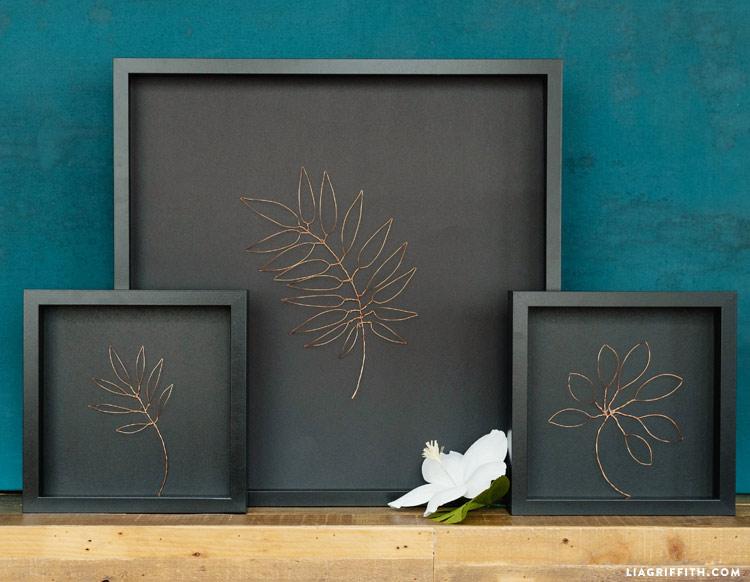 Botanical Copper Wall Art