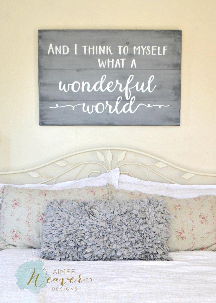 What a wonderful world  BigDIYIdeascom