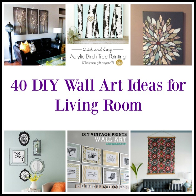 ideas for living room wall art modern sofa furniture 40 diy want a new look your or perhaps you are looking craft to make and sell the is an excellent choice