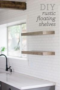 DIY Floating Rustic Shelves - BigDIYIdeas.com