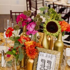Diy Living Room Art Ideas Furniture Contemporary Gold Painted Bottle Centerpieces For Wedding Tablescapes