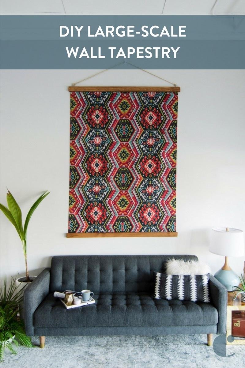 DIY Large Scale Wall Tapestry  BigDIYIdeascom