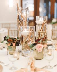 Elegant Gold Stemmed Wedding Centerpieces - BigDIYIdeas.com