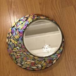 Living Room Design Idea Decorating Ideas For With Wood Floors Round Mosaic Mirror - Bigdiyideas.com