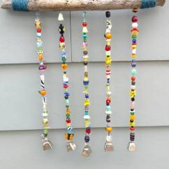 Affordable Living Room Decor Ideas Yellow Color Schemes For Multi Colored Beaded Wind Chime - Bigdiyideas.com
