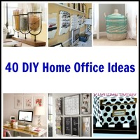 40 DIY Home Office Ideas
