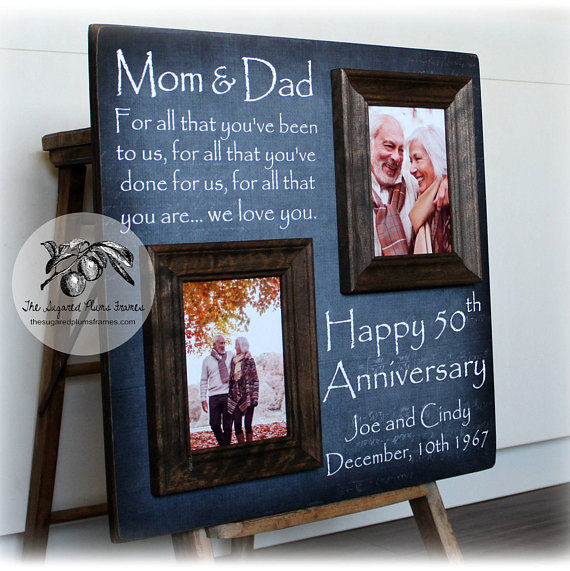 Then and Now Picture Frame 50th Anniversary Gift  BigDIYIdeascom