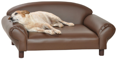big dog sofa bed white modern table dogs beds isadora pet brown faux leather