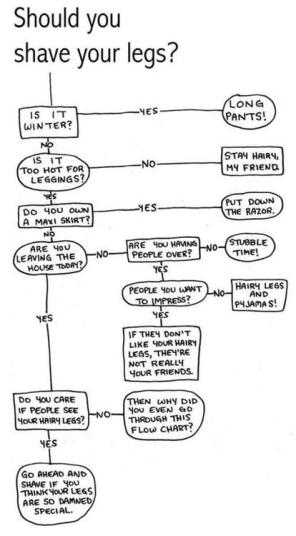 Shave your legs flow chart